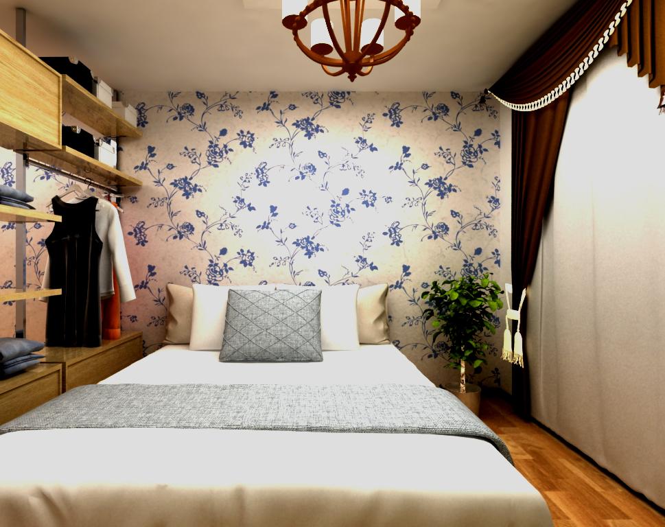"""百姓绿森林硅藻泥背景墙卧室搭配,让您享受无处不在的""""美"""""""